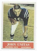1964 Philadelphia football card #12 Johnny Unitas, Baltimore Colts EXMT+