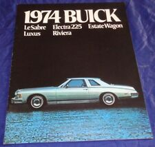 BR1812 1974 Buick LeSabre Riviera Luxus Electra 455 Dealer Sales Brochure 24pgs