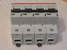 Circuit Breaker / MCB  By ABB Part#  S804PV-S63   MCB 63A 4 Pole 5kA 1200Vdc