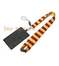 Harry Potter School Crest Lanyard: Gryffindor ID Pocket Key Chain Card Holder