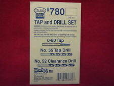 Kadee Hobby Tools:  Tap and Drill Set #780 for 0-80 machine screws