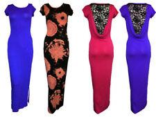 Women's Regular Size Maxi Dress with Cap Sleeve Dresses