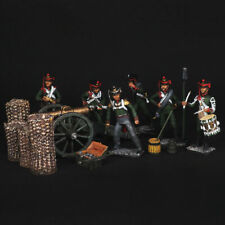 Tin soldier, A set of Russian army artillery.1812 54 mm