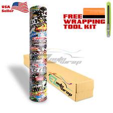 """*12""""x60"""" JDM USDM Racing Graffiti StickerBomb Vinyl Decal Sticker Wrap Sheet #LI"""