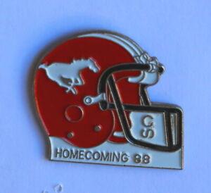 1988 Calgary Stampede sponsor Calgary Stampeders CFL helmet football pin