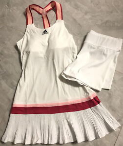 NWT Adidas Tennis Y-Dress HEAT.RDY and Shorts Set - Medium (GH4632) White