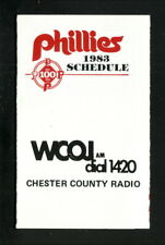 Philadelphia Phillies--1983 Pocket Schedule--WCOJ