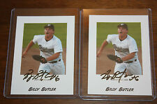 BILLY BUTLER IDAHO FALLS CHUKARS SIGNED 2004 JUST MINORS BASEBALL lot of 2!  #15