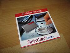 Victorinox Swiss Card Quattro 12 Funktionen Kugelschreiber usw. neu original