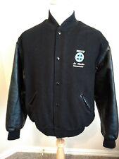 BNSF Los Angeles Intermodal Mens Varsity Winter Jacket XL Wool Leather Sleeves