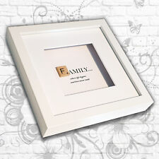 'Family' inspirational quote Art Box Frame (Grey/White) - Mother/Sister/Daughter