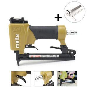 Air Powered Nail Staple Gun Pneumatic Pin Nailer Stapler Upholstery DIY 2-in-1