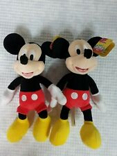 DISNEY JUNIOR  MICKEY MOUSE CLUBHOUSE Plush MICKEY MOUSE Set of 2 New  X2
