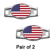 USA Flag Shoe Charms / Paracord Charms