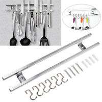 Magnetic Knife Holder Kitchen Utensils Rack Storage Strip Mount Bar Stainless UK