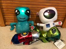 Over The Moon Plush Toy ALIEN,  Astronaut, Lights & Sounds  + 2 slap bracelets