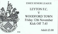 Ticket - Leyton FC v Woodford Town 12th November - No Year Shown