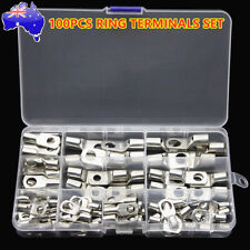 100PCS Battery Copper Cable Lugs Crimp Ring Terminals Electrical Wire Connectors