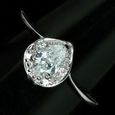 DAZZLING 0.5 CT. 8 H&A CUBIC ZIRCONIA STERLING SOLID 925 SILVER RING SZ 6.0