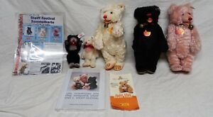 Steiff Festival Familie 1997-2000 5x Teddys limitiert neuwertig mit Buch Zertif.