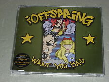 The Offspring:  Want you bad (green slv) + poster  CDS  Near Mint ex shop stock