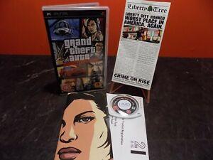 Grand Theft Auto Liberty City Stories GTA Sony PSP PAL Complete XX010