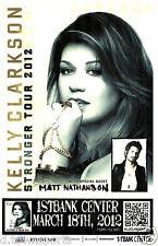 Kelly Clarkson Stronger Tour 2012 1st Bank - Denver 11x17 Show Flyer /Gig Poster