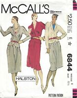 McCall's 6844 Designer HALSTON Jacket & Skirt Suit Sz 8 UNCUT VTG 70s Pattern