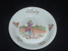 Antique Nursery Rhyme Baby Dish Made in Germany Animal Motif Pottery Ceramic