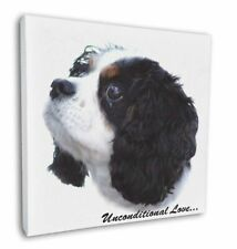 """Tri-Col King Charles-With Love 12""""x12"""" Wall Art Canvas Decor, Pict, AD-SKC6u-C12"""