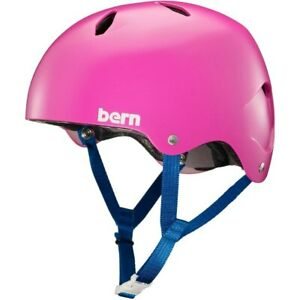 HELMET BIKE SKATE SCOOTER GIRLS PINK SMALL PEAK BERN DIABLA  51.5 -  53 CM