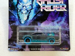 HOT WHEELS 2020 PREMIUM MARVEL GHOST RIDER DODGE CHARGER WITH RUBBER TIRES