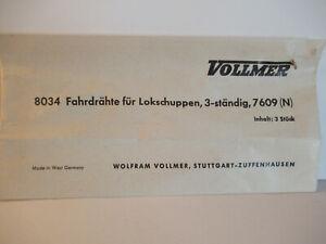 Vollmer N 8034 Oberleitungsfahrdrähte für 3-ständigen Lokschuppen 7609 Spur N