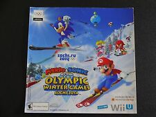 MARIO VS. SONIC AT THE OLYMPIC WINTER GAMES STICKER NINTENDO PROMO DISPLAY