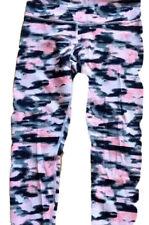 LULULEMON Wunder Under Crop Pants size 4  Wamo Camo Barely Pink Denim EUC Run