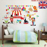 Circus Wall Stickers 100% REMOVABLE Nursery Baby Boy Girl Kids Bedroom Décor Art