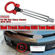 Track Racing Style Tow Hook Ring Red for Chevy Chevrolet Camaro 6th Gen 15-19