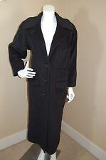 PHILIPPE ADEC Paris Black Wool/Angora/Cashmere Long Lined Elegnt Coat~Sz 01(10)?