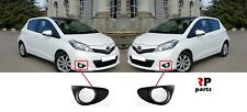FOR TOYOTA YARIS 2011 - 2014 NEW FRONT BUMPER FOGLIGHT GRILLE PAIR SET