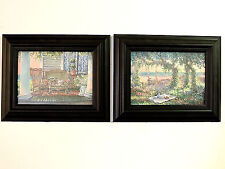 BEACH FRONT PORCH AND SWING PICTURES FRAMED PRINTS TWO PICTURES 5X7