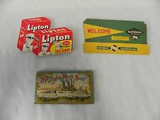Lot Vtg Lipton Tea National Food Army Navy Advertising Sewing Needle Book (A3)