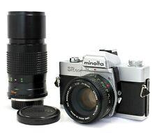 [Exc Minolta SR 505 SLR Camera w/ 50mm F1.7 & 200mm F/4.5 Lens from Japan