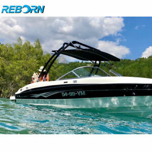 Black Reborn Launch Forward-facing Wakeboard Tower Fast Install & Fold Down
