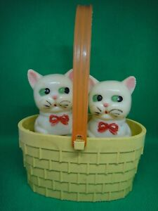 """Vintage Latvian USSR STRAUME manufactured """"Cats in a basket"""" 1970s"""