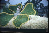 Portland Float Cloverleaf Pretty Woman 1950s 35mm Slide Red Border Kodachrome