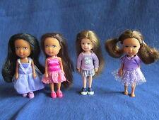 """Lot of 4 Mattel Barbie Little Sister Kelly & Friends 4"""" dolls. LOOK"""