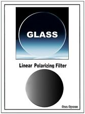 26mm GLASS Mounted Linear Polarizing Filter Multilayer High Contrast, Real Black