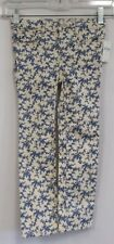 *NWT* BABY GAP Girls Cream & Blue Floral Print Mini Skinny Jeans Size 5