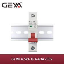 Geya Ac Circuit Breaker Mcb Gym8 1P 4.5kA 6/10/16/25/32/40/50/63A 230V Din Rail