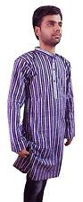 Men Kurta Fashion Long Sleeve 100% Cotton Shirt Indian New Top Traditional
